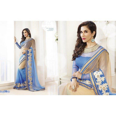 Multicolor  Saree Exclusive Beautiful Designer Bollywood Indian Party Wear Sari 164