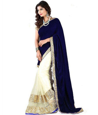 Blue Colour Saree Exclusive Beautiful Designer Bollywood Indian Party Wear Sari 169