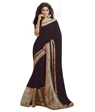Black Colour Georgette Saree Exclusive Beautiful Designer Bollywood Indian Partywear Sari 181