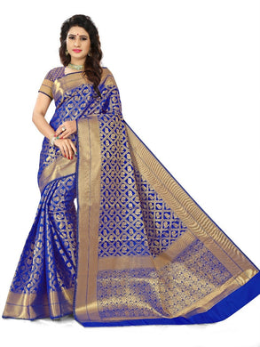 Blue Colour Banarasi Silk Exclusive Designor Saree