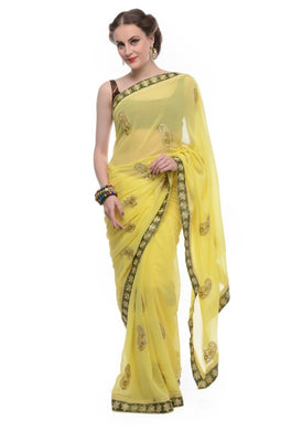 Lime Colour Saree Exclusive Beautiful Designer Bollywood Indian Party Wear Sari 29