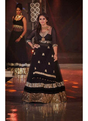 Black Colour  India Stylish Designer Bollywood Suit Salwar Kameez Dress Women 500
