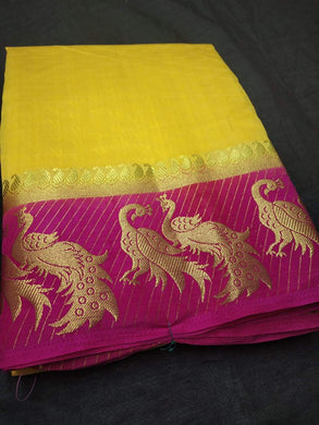 New Arrival Women's Multi Colour Tusser Silk Saree With Contrast Blous Eand Border