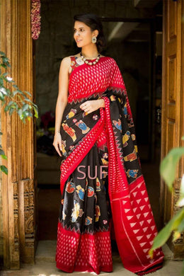 Awesome Attractive Hot Lattest Designer Bollywood Look Silk Saree With Blouse