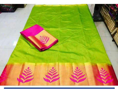 Mehandi Colour Tusser Silk Saree Exclusive Beautiful Designer Bollywood Indian Partywear Sari