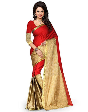 Red And Beige Colour Saree Exclusive Beautiful Designer Bolywood Indian Partywear Sari 951
