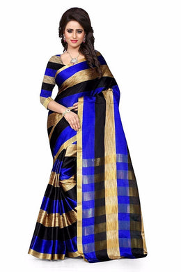 Blue And Black Multicolour Saree Exclusive Beautiful Designer Bolywood Indian Partywear Sari 952be
