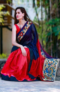 Multicolor Beautiful Designer Bangalori Satin Silk Digital Print Saree 109