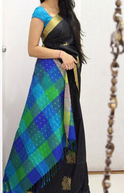Multicolor  Trendy Hotselling Bangalori Silk Digital Printed With Running Blouse