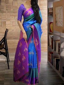Multicolor Beautiful Designer Bangalori Satin Silk Digital Print Saree 67
