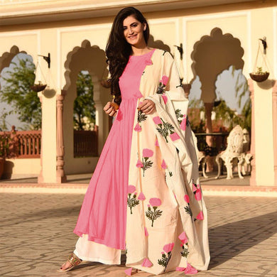Pink Colour Awesome Indian Stylish Women Designer Party Salwar Suit Kameez Semi-stiched Dress With D