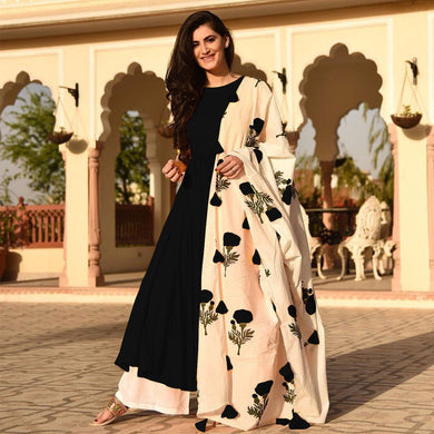 Black Colour Awesome Indian Stylish Women Designer Party Salwar Suit Kameez Semi-stiched Dress With