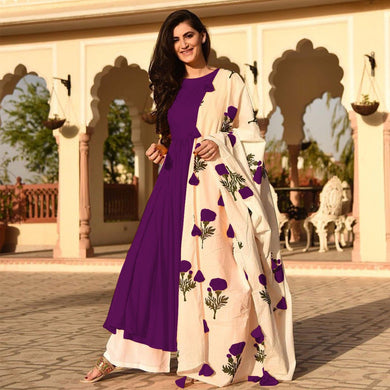 Purple Colour Awesome Indian Stylish Women Designer Party Salwar Suit Kameez Semi-stiched Dress With
