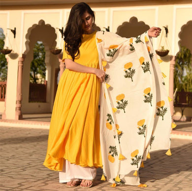 Yellow Colour Awesome Indian Stylish Women Designer Party Salwar Suit Kameez Semi-stiched Dress With