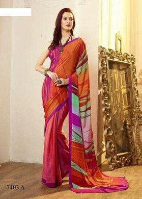 New Designer Multicolor Ltalian Carep Digital Printed Saree