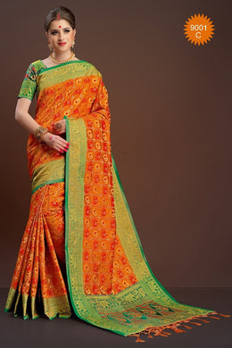 New Launching Designer Multicolour Poly Cotton Thread Work Saree-samt