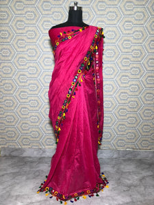 Red Color Party Wear Bollywood Traditional Ethnic Wear Printed Saree