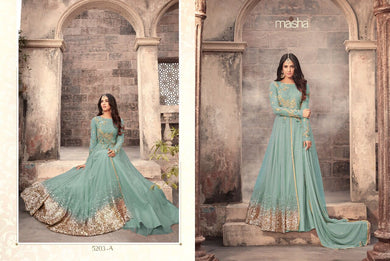 New Designer Firogi Color Party Wear Ethinic Wear Embroidered Work Salwar Kameez