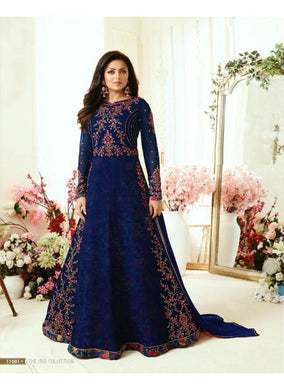 Amazing Blue Color Designer Heavy Embroidered Work Anarkali Salwar Kameez