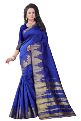 Awesome Blue Color Party Wear Traditional Printed Work Saree