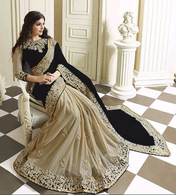 New Designer Black Color Party Wear Bollywood Traditional Ethinic Wear Saree