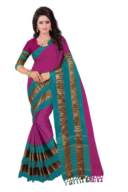 Awesome Dark Pink Color Party Wear Traditional Printed Work Saree