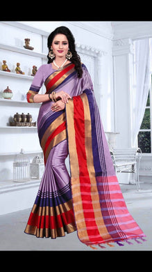Awesome Designer Purple Color Party Wear Traditional Printed Work Saree