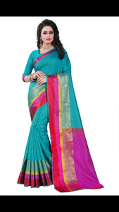 Awesome Designer Firogi  Color Party Wear Traditional Printed Work Saree