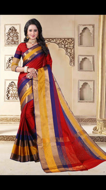 Awesome Designer Red Color Party Wear Traditional Printed Work Saree