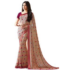 New Designer Multi Color Party Wear Bollywood Traditional Ethinic Wear Printed Saree