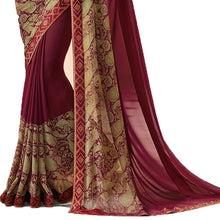 New Designer Maroon Color Party Wear Bollywood Traditional Ethinic Wear Printed Saree