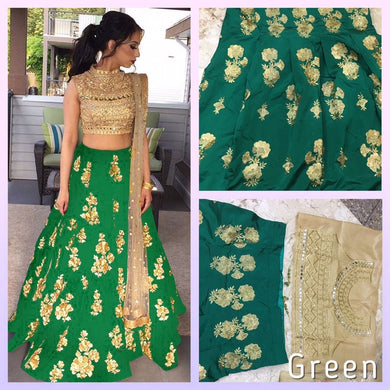 New Designer Green Color Party Wear Bollywood Traditional Ethinic Wear Embroidery Work