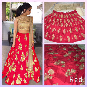 New Designer Red Color Party Wear Bollywood Traditional Ethinic Wear Embroidery Work