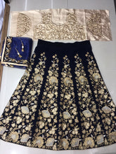 New Designer Navyblue Color Party Wear Bollywood Traditional Ethinic Wear Embroidery Work