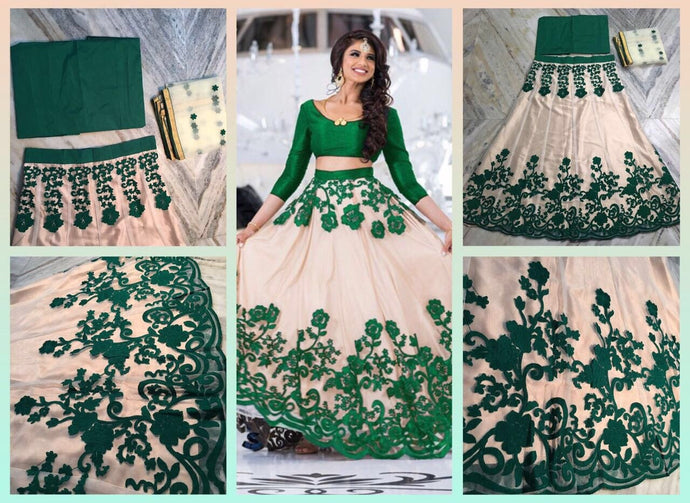 Green Color Party Wear Bollywood Traditional Ethnic Wear Embroidery Work