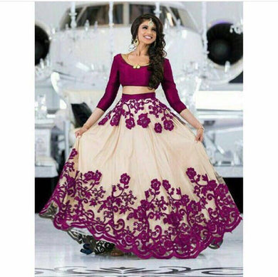 New Designer Purple Color Party Wear Bollywood Traditional Ethinic Wear Embroidery Work