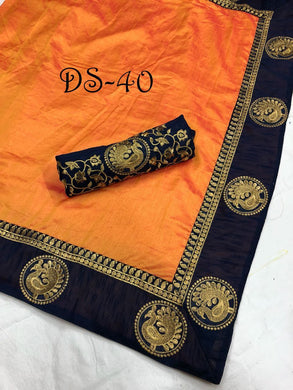 Trendy Bollywood Look Attractive Lattest Sana Silk Designer Saree With Heavy Border