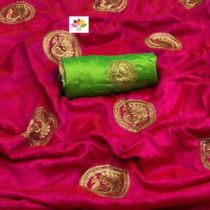 Awesome Attractive Hot Lattest Designer Sana Silk Saree With Blouse