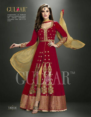 Red Color  Georgette With Bhagalpurisuit