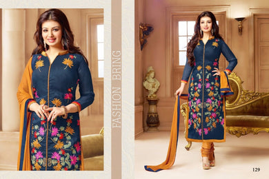 Elegant Ayesha Takia  Blue Colored Blended Cotton Salwar Kameez