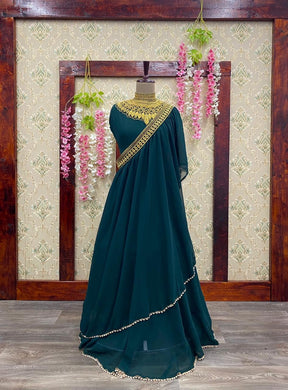 Green Color New Designer Beautiful Gown