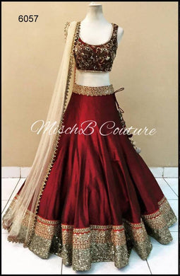 Maroon Color New Fancy Color New Embroidered Work Lehenga 6057