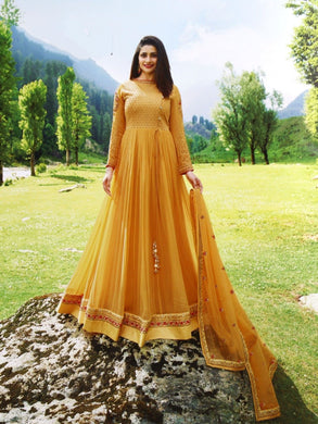 Attactive Yellow Colour Georget With Embroidery Work Salwar Suit