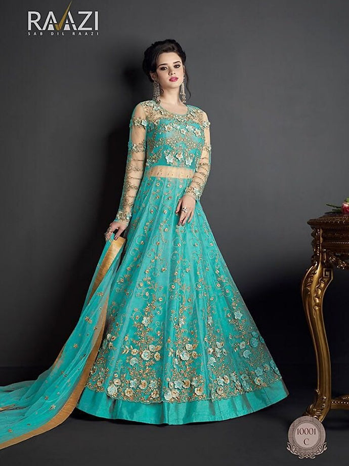 Awesome Embrooidary Work Designer Floor Length Anarkali Suit