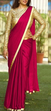 Awesome Full Sequence Work Blouse+sana Silk Fancy Saree