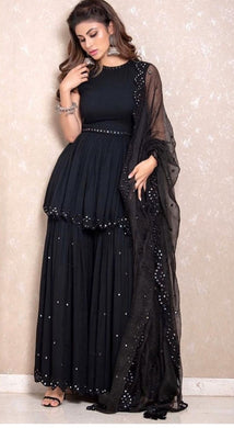 Black Color Heavy Georgette Salwar
