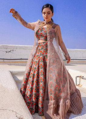 Multicolor Awesome Taffeta Silk Lehenga