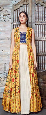 Yellow Color Pretty Georgette(60 Gm Lehenga