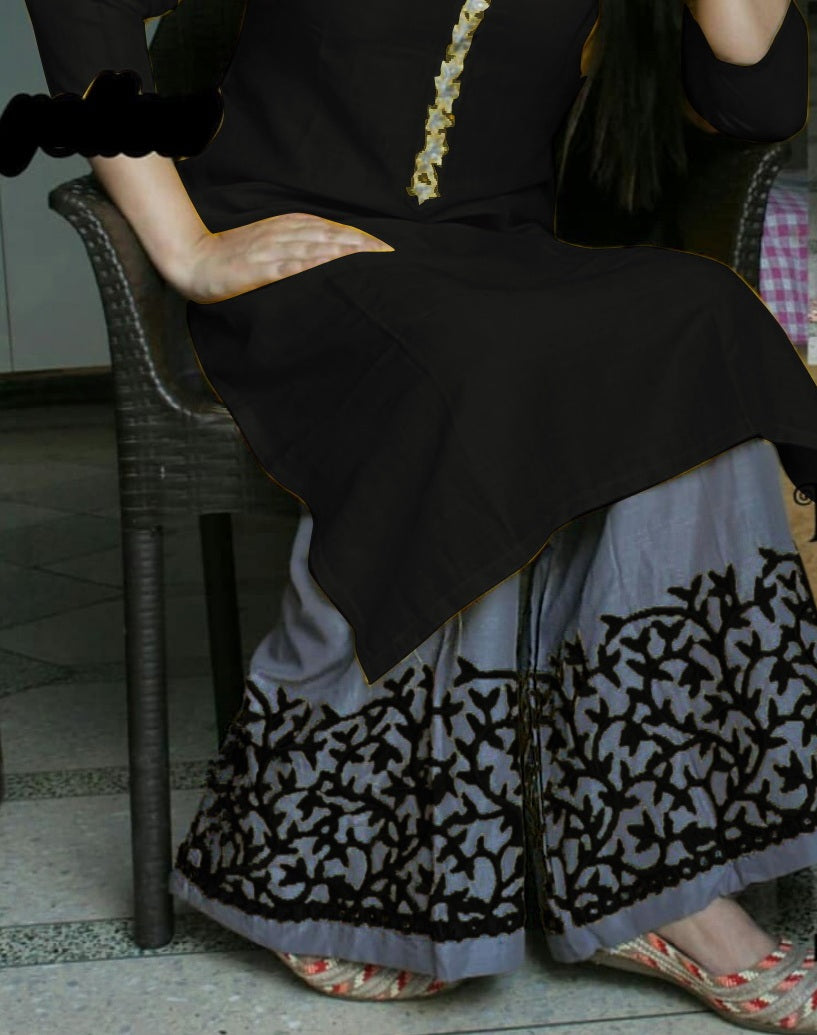 New Collection Black Colour  Riyon Cotton  Salwar Suit