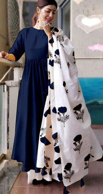 Neavy Blue Color Amazing Rayon Salwar